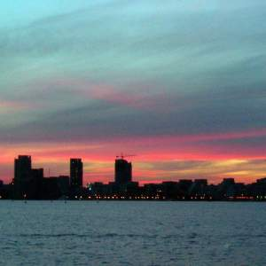 Finding God in the everyday: urban sunset